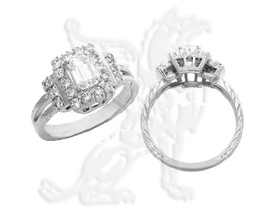 Modern wedding rings newlyweds Emerald cut engagement rings gordons us69