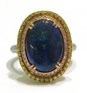 Alan Diamonds Opal Ring