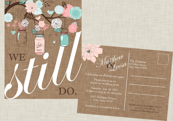 Invitation Wedding Party Invitations Vow Renewal Then And Now Photo