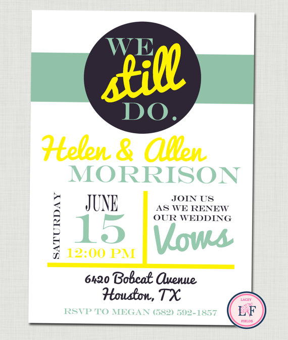 adorable vow renewal and engagement party invitations  the yes girls, 50th wedding renewal invitations, funny wedding renewal invitations, wedding invitations renewal of vows