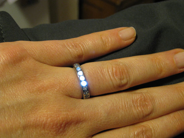 light up engagement ring