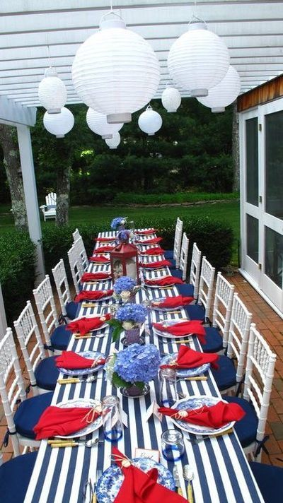 4th of July Nautical Table Decorations Ideas