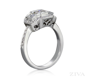 Ziva Emerald Ring