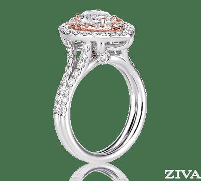 Rose Shaped Engagement Ring White Gold Online Image Arc