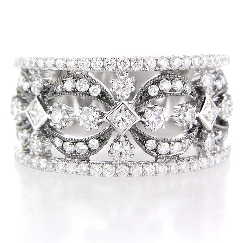 items cut round and band style vintage baguette ring gallery diamond meis matt bands