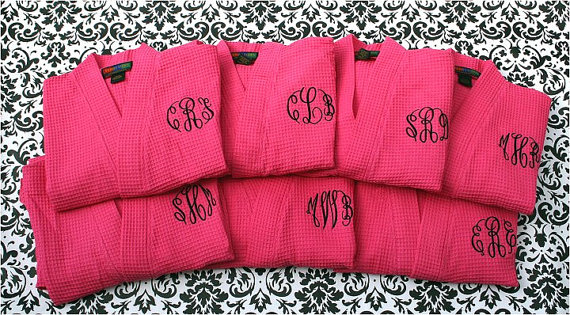 monogram bridesmaids gifts by the yes girls events
