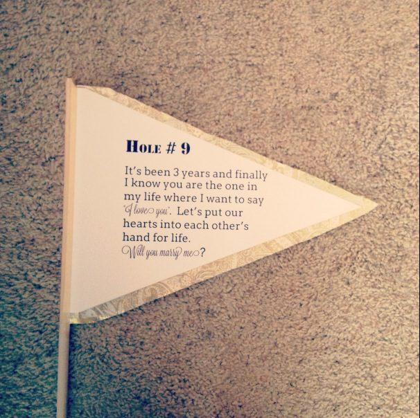golf flag beach proposal idea