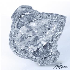 JB Star Pear Shaped Diamond Ring