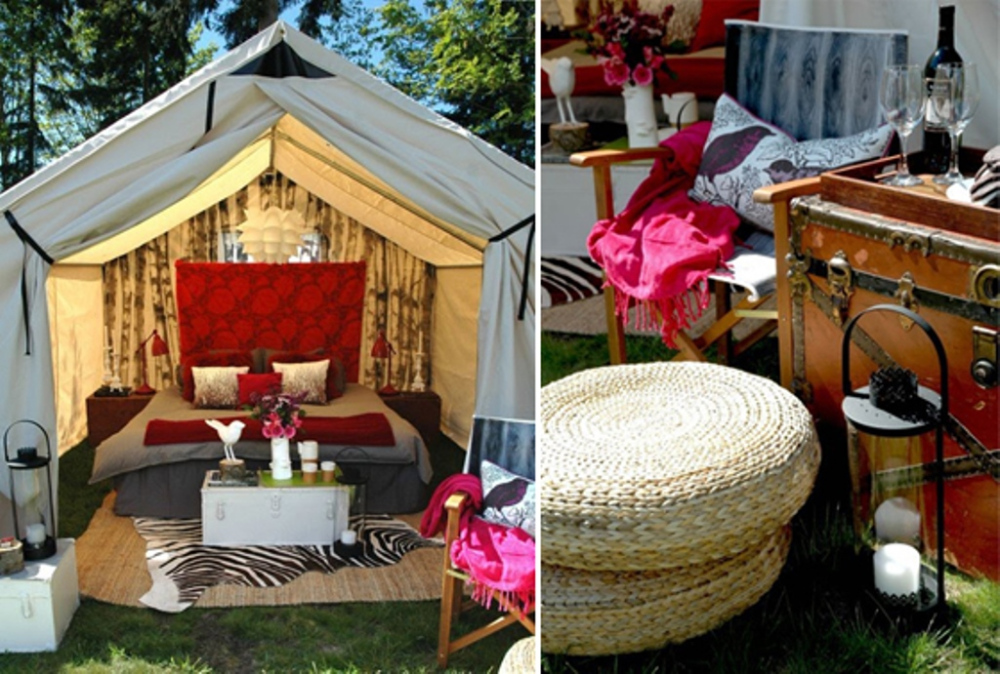 Romantic glamping the yes girls