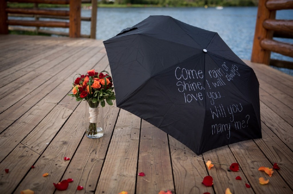Evergreen Colorado Rain Theme Marriage Proposal by The Yes Girls Events57