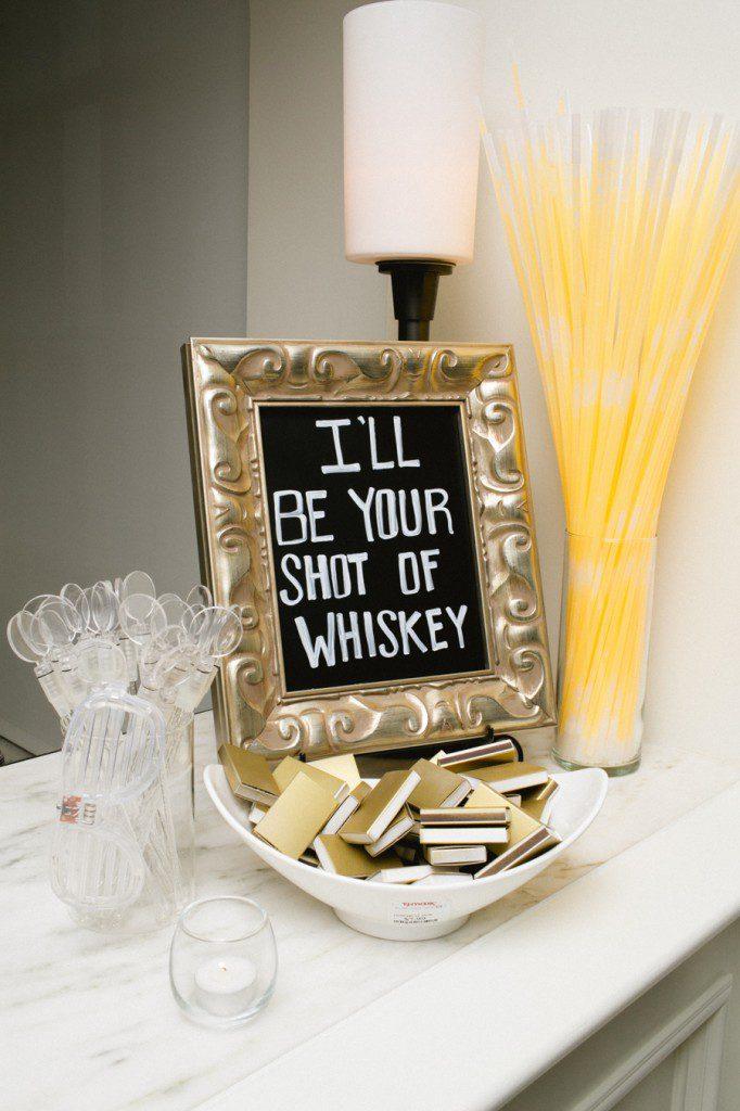 I'll be your shot of whiskey lyrics in a wedding decoration