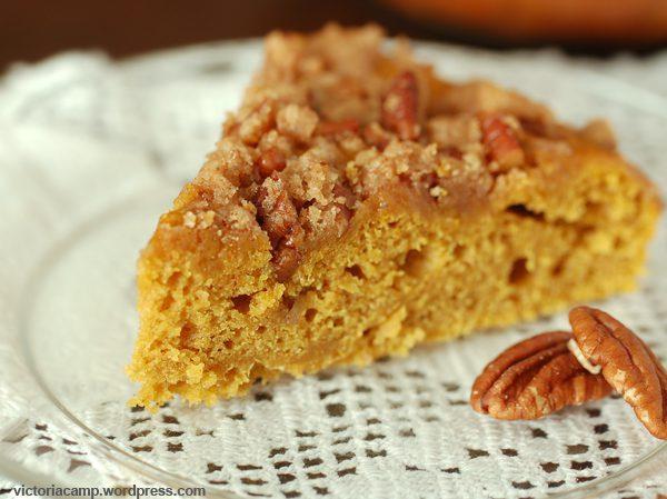 Pumpkin Coffee Cake with Pecan Streusel
