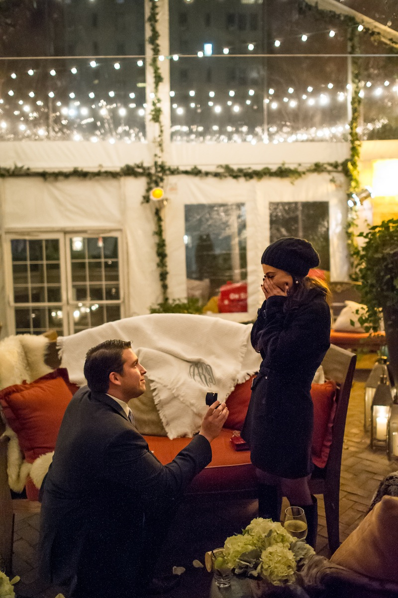 Holiday Marriage Proposal NYC by The Yes Girls