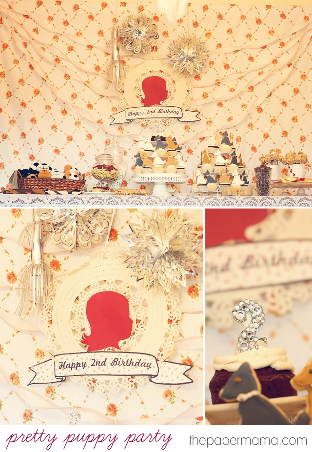 vintage puppy theme birthday party for kids