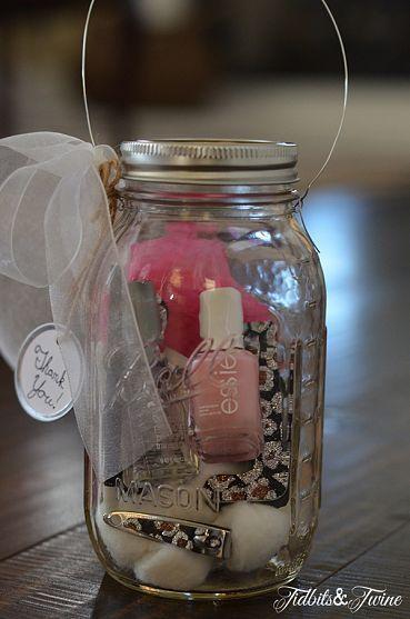 Mason Jar Manicure Kit Gift