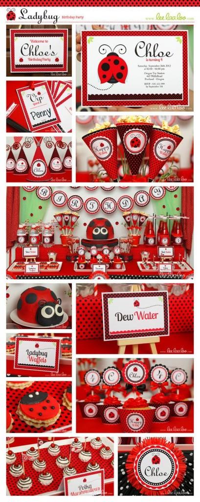 ladybug theme birthday party for kids