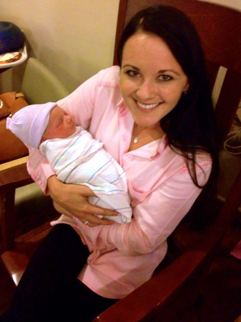 Aunt Heather Vaughn and baby Siena