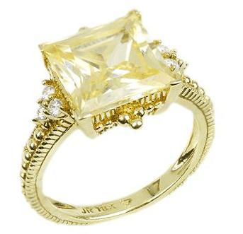 Judith Ripka Canary Engagement Ring
