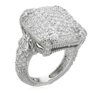 Judith Ripka Cushion Cut Ring