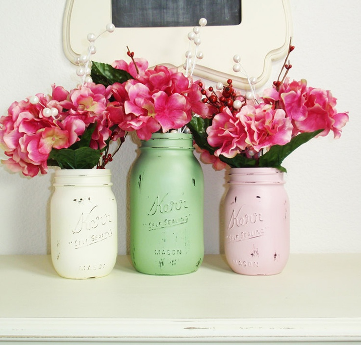 DIY Painted Mason Jar