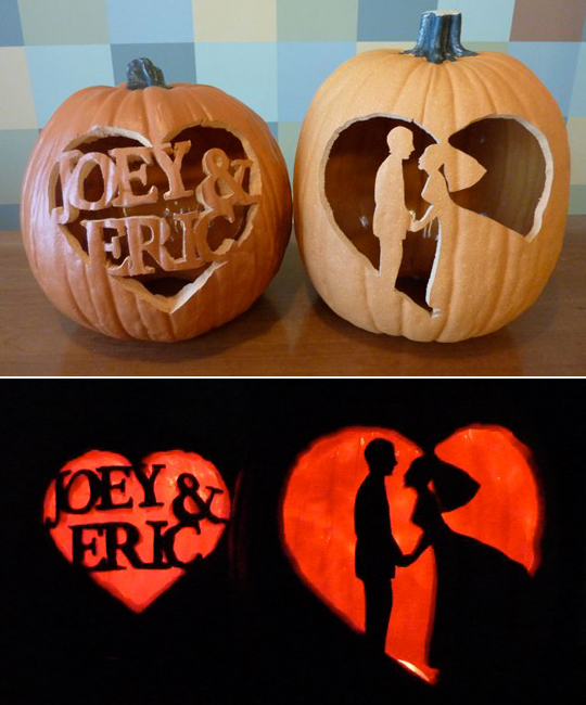 halloween pumpkin carving marry me