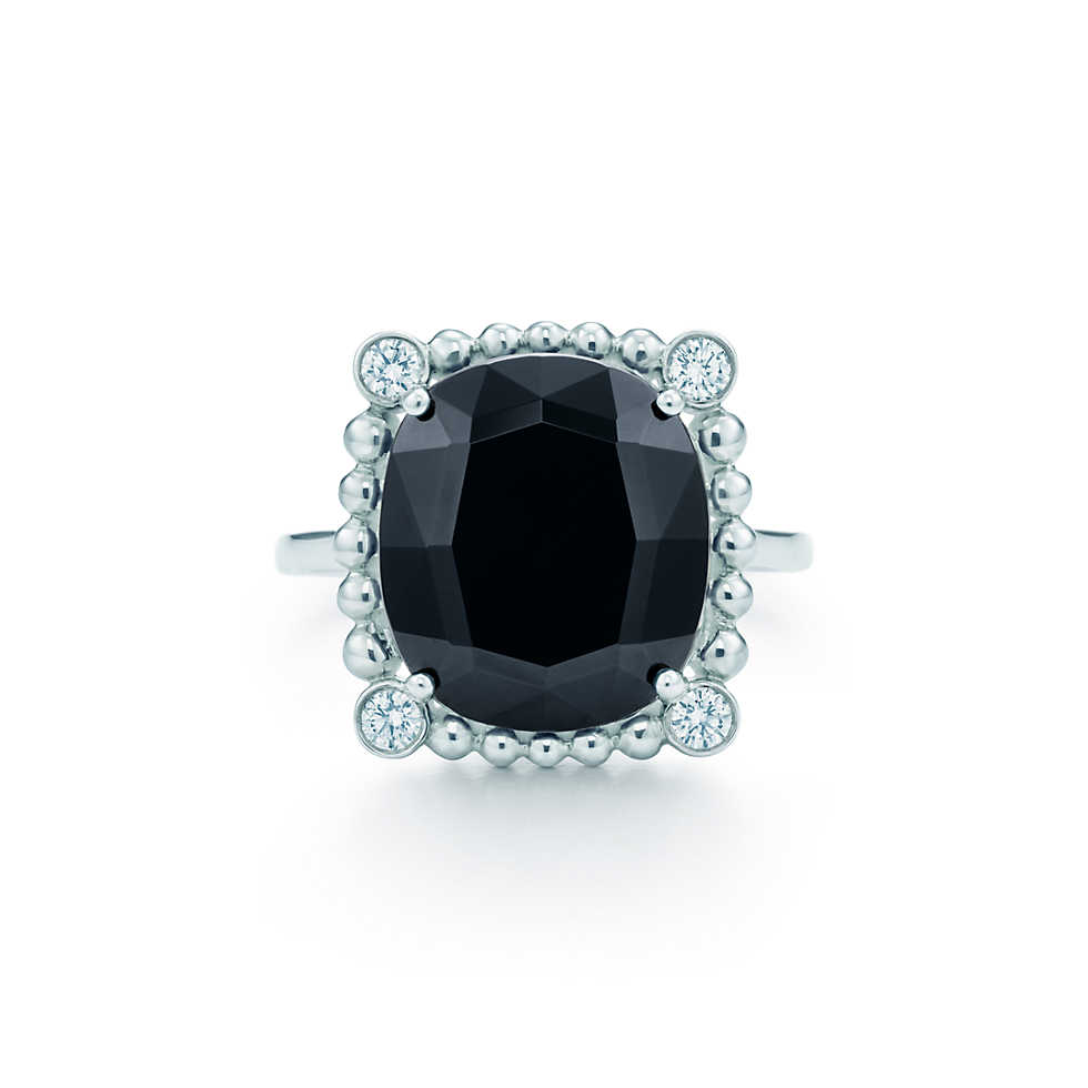 Tiffany Black Spinel Ring