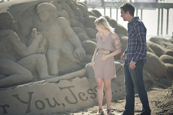 sand castle beach proposal the yes girls
