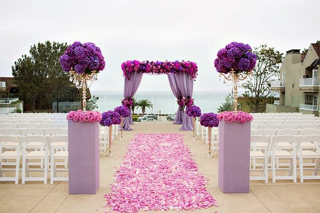Radiant Orchid wedding