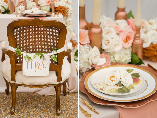 Rose Gold Wedding Center Pieces Decor