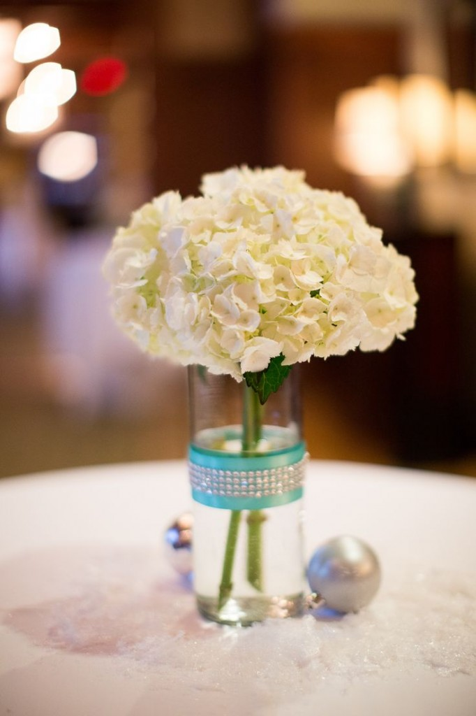 Tiffany Blue and Silver wedding flowers