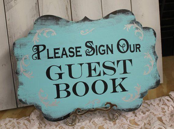 Tiffany Blue wedding Guest book sign