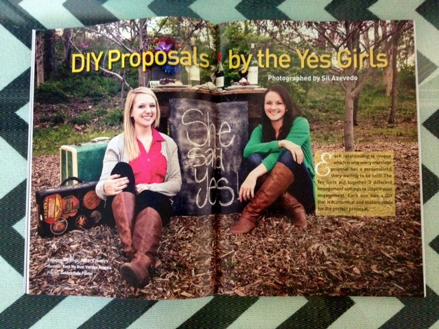 the yes girls proposal planners in engagement 101 magazine