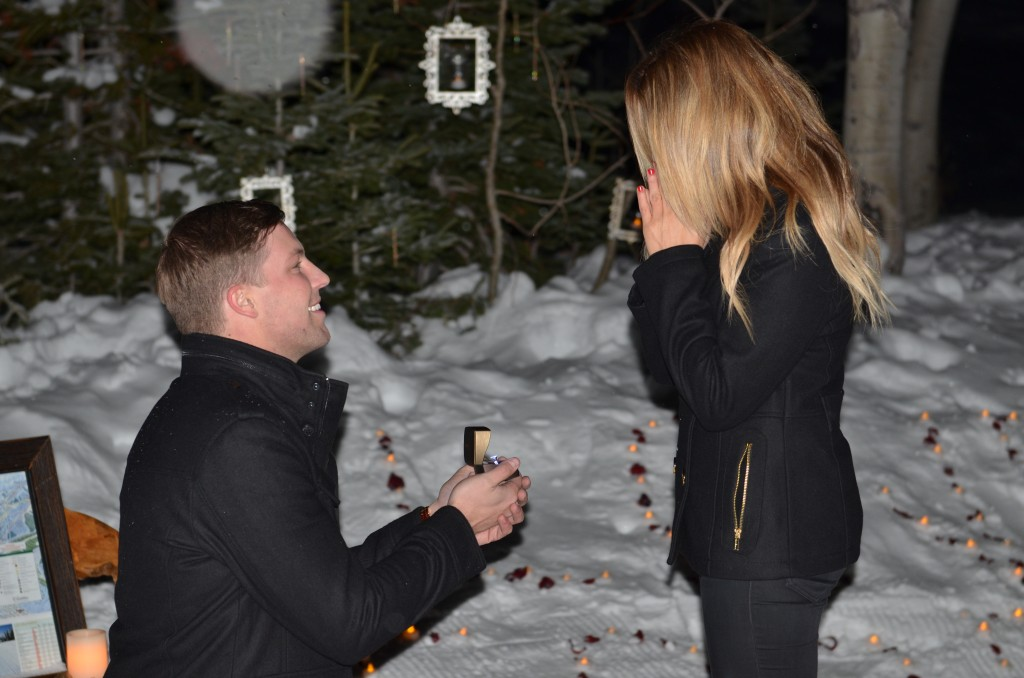 Winter marriage proposal by the yes girls, park city utah3