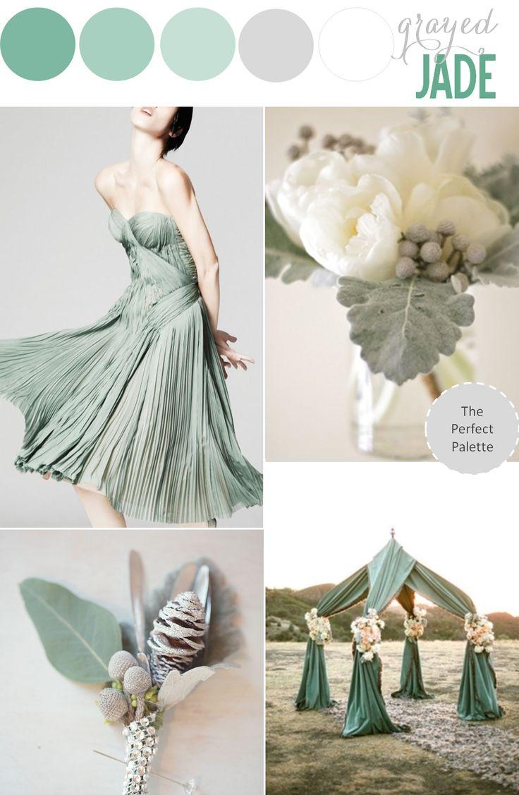 Wednesdays women jade color palette the yes girls for Jade green wedding dresses