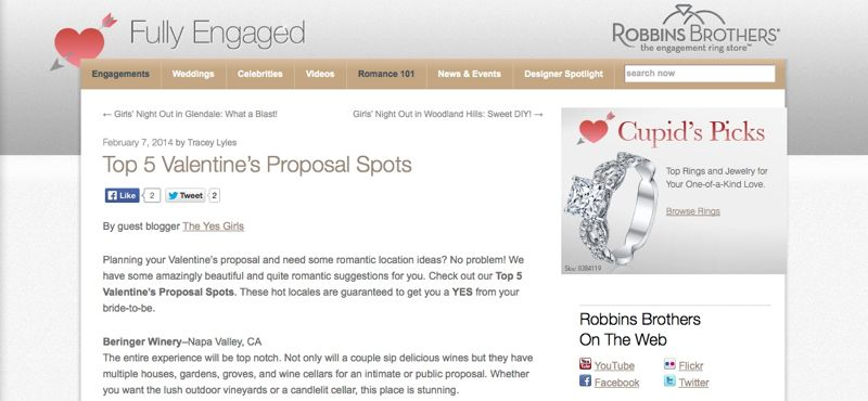 Top 5 places to propose on Valentine's Day
