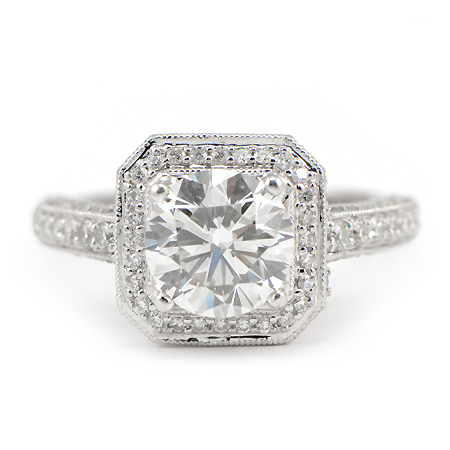 Wixon Jewelers Cushion Halo Ring