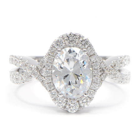 Wixon Jewelers Oval Halo Ring