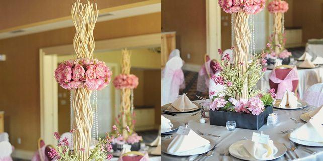 Pink Peony Wedding Centerpiece