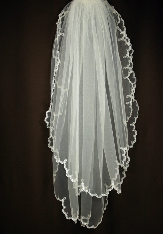 """something old"" bridal veil"