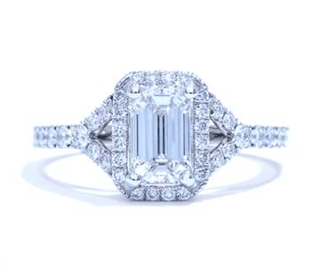 Ascot Emerald Engagment Ring