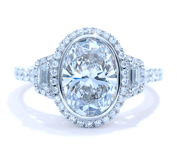 Ascot Oval Engagement Ring