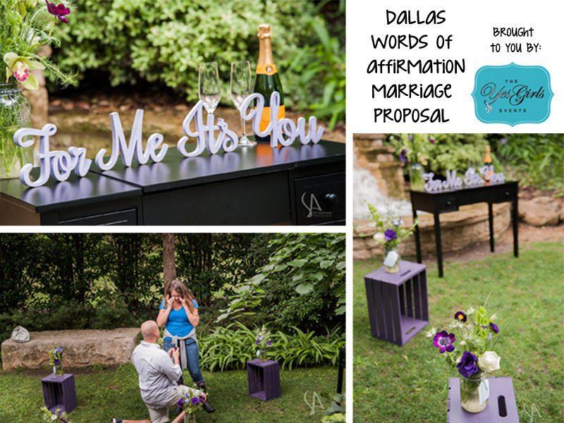 Phil meredith 39 s dallas garden marriage proposal the for Garden design proposal