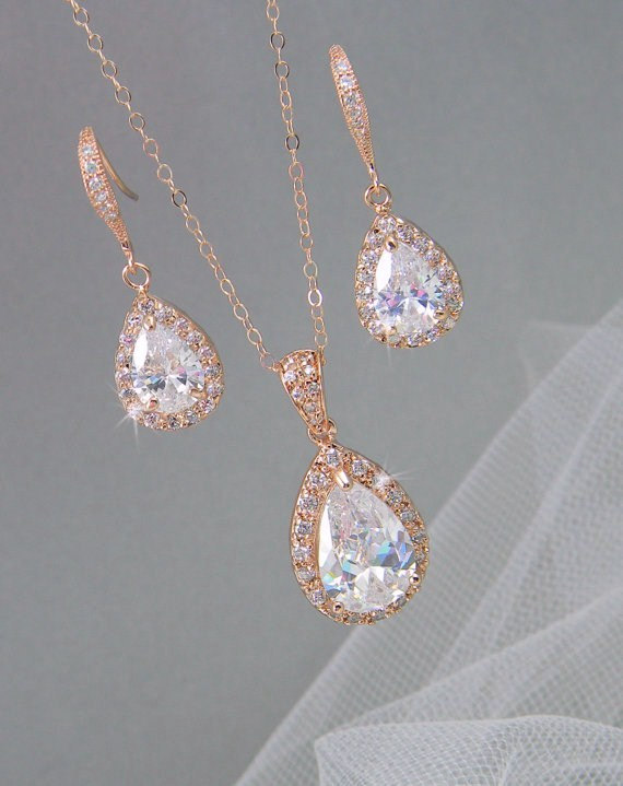 Rose Gold Bridal Jewelry The Yes Girls