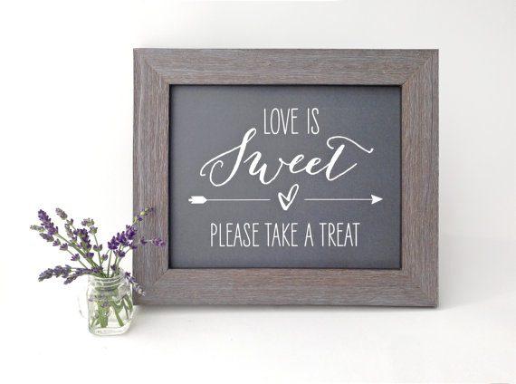 treat bar wedding sign