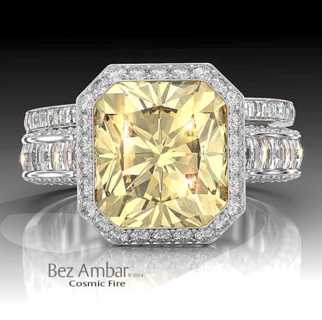 Ambar Fancy Yellow Ring