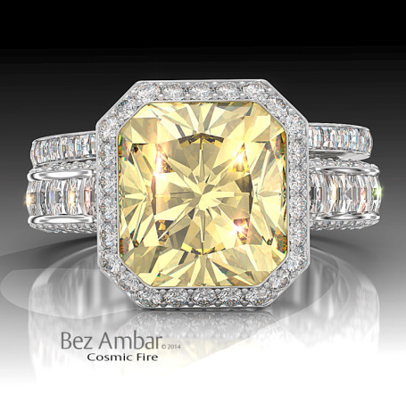 Ambar Fancy Yellow Ring