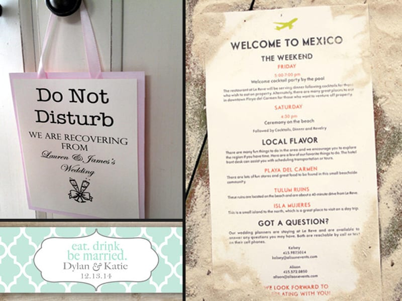 wedding welcome bags the yes girls