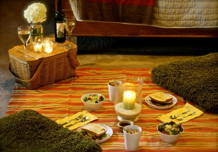 Date Night Idea Indoor Picnic The Yes Girls