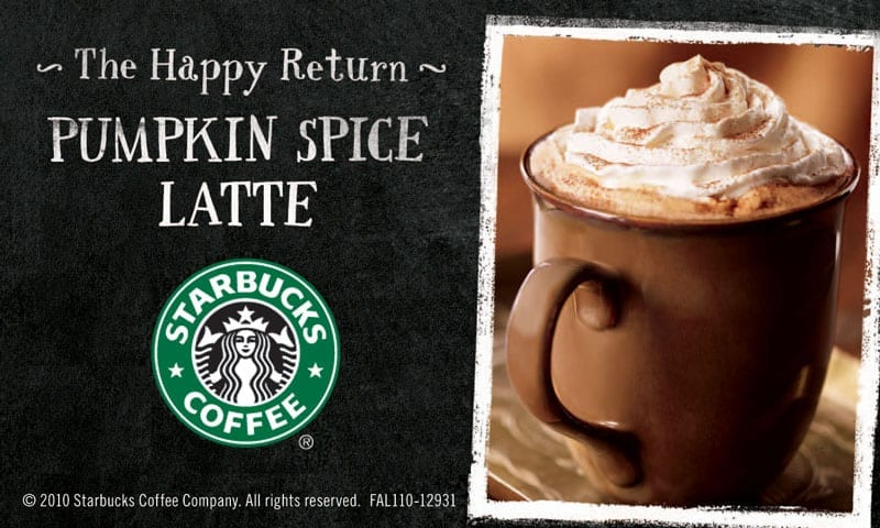 starbucks pumpkin spice latte date questions
