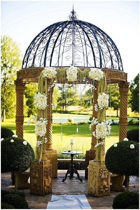 outdoor wedding with gazebo